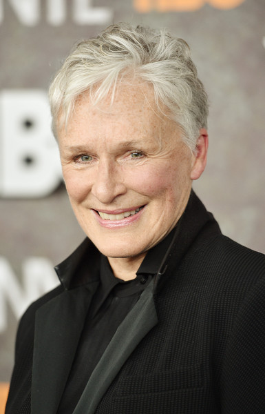 More Pics of Glenn Close Messy Cut (4 of 5) - Short Hairstyles Lookbook - StyleBistro [hair,hairstyle,forehead,blond,smile,white-collar worker,official,wrinkle,businessperson,arrivals,glenn close,vinyl,new york,ziegfeld theatre,premiere]