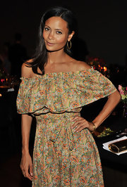 Thandie Newton kept her hair sleek and simple at the Viva Vevolution. Her brunette locks swept softly across her shoulders.