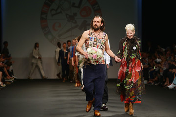 Vivienne Westwood Andreas Kronthaler Models Walk for Vivienne Westwood at Milan Collections Men SS16