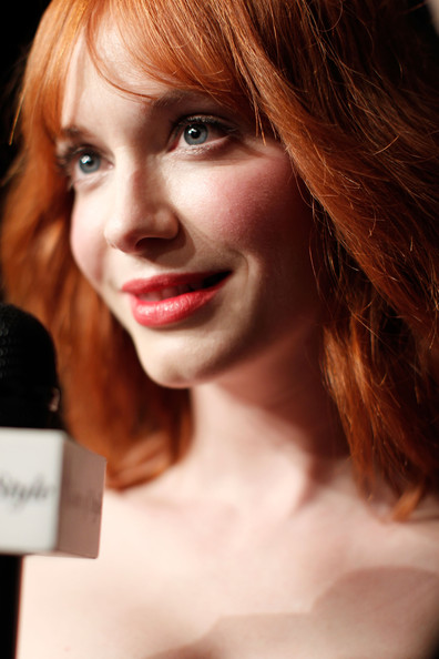 More Pics of Christina Hendricks Red Lipstick (1 of 18) - Christina Hendricks Lookbook - StyleBistro