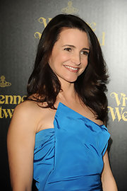 Kristin Davis always looks classy on the red carpet. The actress opted for softly curled tresses at the Vivienne Westwood store opening.