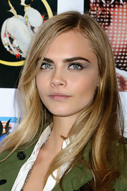 Cara Delevingne painted her eyelids with a hint of gray eyeshadow at the Vogue Festival 2012 cocktail party.