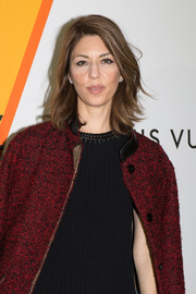Sofia Coppola looked fab with her flippy layered cut at the Louis Vuitton 'Volez, Voguez, Voyagez' exhibition.
