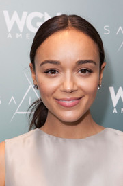 Ashley Madekwe opted for a no-fuss pony when she attended the Winter TCA 'Salem' event.