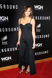 Chrissy Teigen matched her top with a pair of black skinny pants, also by John Paul Ataker.