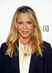 Maria Bello looked chic with her messy waves during Comic-Con 2016.