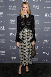 Lauren Santo Domingo made a chic appearance at the WSJ. Magazine 2016 Innovator Awards wearing this combo lace dress by Erdem.
