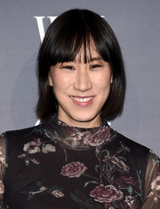 Eva Chen stuck to her usual short cut with bangs when she attended the WSJ. Magazine 2016 Innovator Awards.