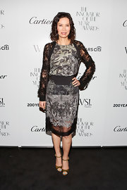 Wendi Deng was spotted at the Innovator of the Year Awards wearing an intricately designed cocktail dress.