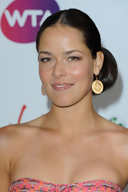 Ana Ivanovic looked divine at the pre-Wimbledon party with her hair in a center-parted chignon.
