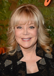 Candy Spelling sweetened up her look with feathered curls and wispy bangs when she attended the Wallis Annenberg Center Inaugural Gala.