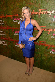 Victoria Hervey showed off her modern style in an asymmetrical electric-blue cocktail dress at the Wallis Annenberg Center Inaugural Gala.