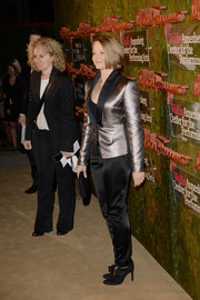 Jodie Foster opted for a pair of black booties teamed with an iridescent pantsuit when she attended the Wallis Annenberg Center Inaugural Gala.