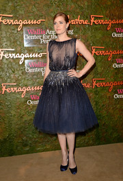 Amy Adams looked darling and divine in a beaded blue Elie Saab cocktail dress during the Wallis Annenberg Center Inaugural Gala.