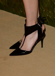 Gia Coppola stepped out in a pair of edgy black T-strap pumps at the Wallis Annenberg Center Inaugural Gala.