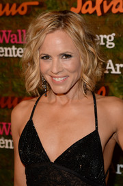 Maria Bello fixed her short locks in a messy-glam wavy style for the Wallis Annenberg Center Inaugural Gala.