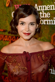 Miroslava Duma sported a retro-glam finger-wave 'do at the Wallis Annenberg Center Inaugural Gala.