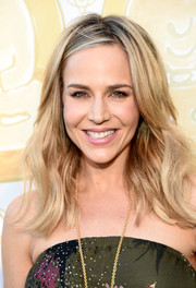 Julie Benz topped off her look with summery waves when she attended the Wanderlust Hollywood grand opening.
