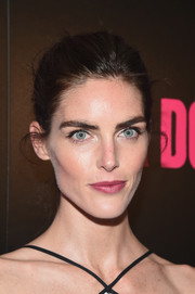 Hilary Rhoda was fresh-faced with her hair pulled back in a bun during the New York premiere of 'War Dogs.'