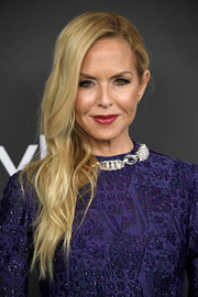 Rachel Zoe wore her long blonde locks swept to the side when she attended the Warner Bros. and InStyle Golden Globes post-party.