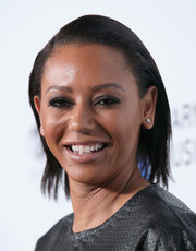 Melanie Brown sported a simple straight cut at the Warner Music Group Grammy celebration.