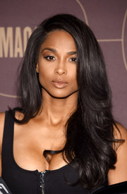 Ciara was stylishly coiffed with this feathered flip at the Warner Music Group pre-Grammy celebration.