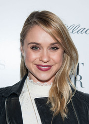 Becca Tobin looked edgy-chic at the Who What Wear event with one side slicked back and the other falling in graceful waves.