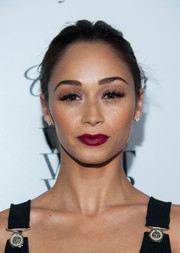 Cara Santana accentuated her kissers with a rich fuchsia lip color during the Who What Wear event.