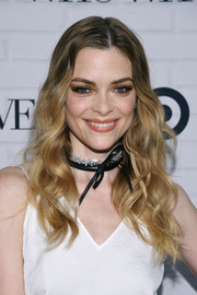 Jaime King accessorized with a Fallon cubic zirconia and leather choker that was equal parts elegant and edgy.