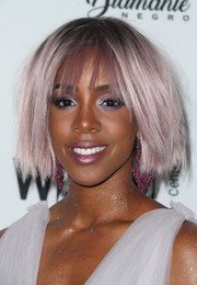 Kelly Rowland looked whimsical with her choppy lilac bob at the Wearable Art Gala.