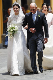 Alessandra de Osma looked absolutely gorgeous in her Jorge Vázquez wedding dress.