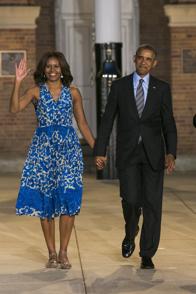 More Pics of Michelle Obama Day Dress (1 of 4) - Michelle Obama Lookbook - StyleBistro
