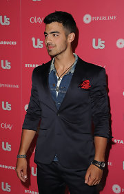 Joe Jonas completed his sharp look with a pavé black onyx Spiritual Bead bracelet for the Hot Hollywood party hosted by 'Us Weekly.'