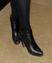 Stella Schnabel rocked a pair of studded ankle-boots at the Toronto International Film Fest 2010.