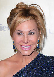 Adrienne Maloof wore her hair in a rocker-chic messy updo at the 2013 Golden Globes after-party.