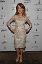 Jane Seymour shined in a metallic cocktail dress at the Audi celebration.