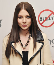 Michelle Trachtenberg attended a screening of 'Bully' wearing her subtly layered hair ultra-straight.