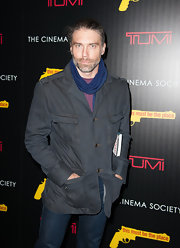 Anson Mount showed up at the screening of 'This Must be the Place' in a worn and handsomely rugged jacket that considerably upped his cool factor.