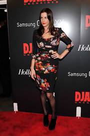 Liv was a retro sex pot in this floral sheath dress at the 'Django Unchained' premiere.