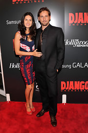 Jessica Lucas spiced up her outfit at the screening of 'Django Unchained' with red peep-toe pumps.