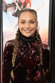 Maddie Ziegler kept it girly with these double French braids at the premiere of 'Leap!'