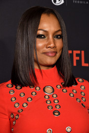 Garcelle Beauvais showed off a super-sleek center-parted hairstyle at the Weinstein Company and Netflix Golden Globe party.