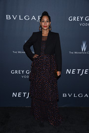 Tracee Ellis Ross topped off her outfit with a cropped jacket.
