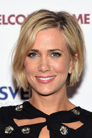 Kristen Wiig attended the New York premiere of 'Welcome to Me' wearing her hair in a casual bob.