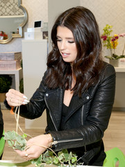 Katherine Schwarzenegger was biker-chic in a black leather jacket while attending the Westfield x Who What Wear Presents: Boss Notes event.