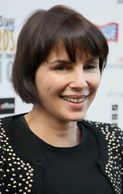 Sadie Frost's short cut with bangs was a playful addition to her overall look at the Theatregoers' Choice Awards.