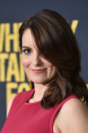 Tina Fey looked sweet with her shoulder-length waves at the world premiere of 'Whiskey Tango Foxtrot.'
