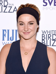 Shailene Woodley opted for a slicked-back hairstyle, accessorized with a thick headband, when she attended the 'White Bird in a Blizzard' screening.