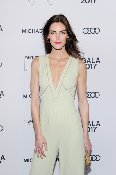 More Pics of Hilary Rhoda Jumpsuit (1 of 8) - Suits Lookbook - StyleBistro [clothing,fashion model,shoulder,dress,neck,fashion,hairstyle,joint,cocktail dress,leg,hilary rhoda,whitney museum celebrates annual spring gala,michael kors,whitney museum,new york city,studio party,audi,spring gala]
