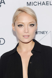 Pom Klementieff pulled her hair back into a ponytail for the Whitney Museum Spring Gala.